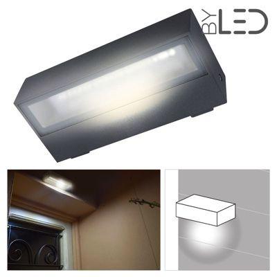 Applique LED murale étanche rectangulaire 6W - 230V - KRISS-06