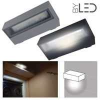 Applique LED murale étanche rectangulaire 6W - 230V - KRISS-06