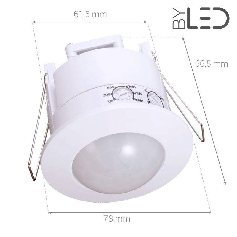 d tecteur de mouvement infrarouge encastrable blanc groom gr 03 byled byled. Black Bedroom Furniture Sets. Home Design Ideas