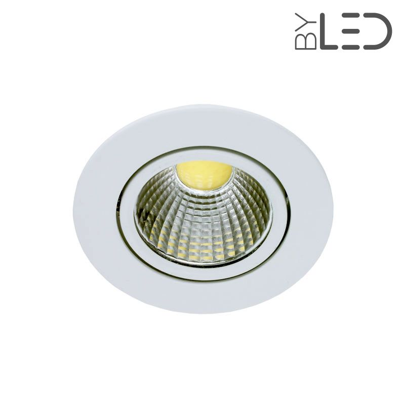 Spot led encastrable et orientable 5w cobra 5 byled for Spot led interieur encastrable
