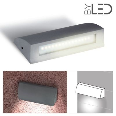 Lampe LED murale extra plate 3 5W LED extérieur ByLED