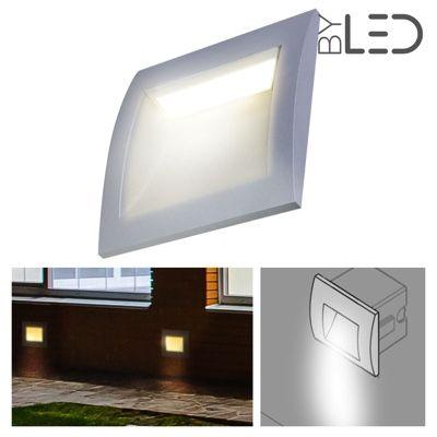 spot led encastr de sol 3w blanc pur 230v terrasse jardin byled. Black Bedroom Furniture Sets. Home Design Ideas