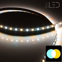 Ruban IP20 5050 - Blanc Pur + Chaud - 7,2W/m - 30 LED/m - 5m