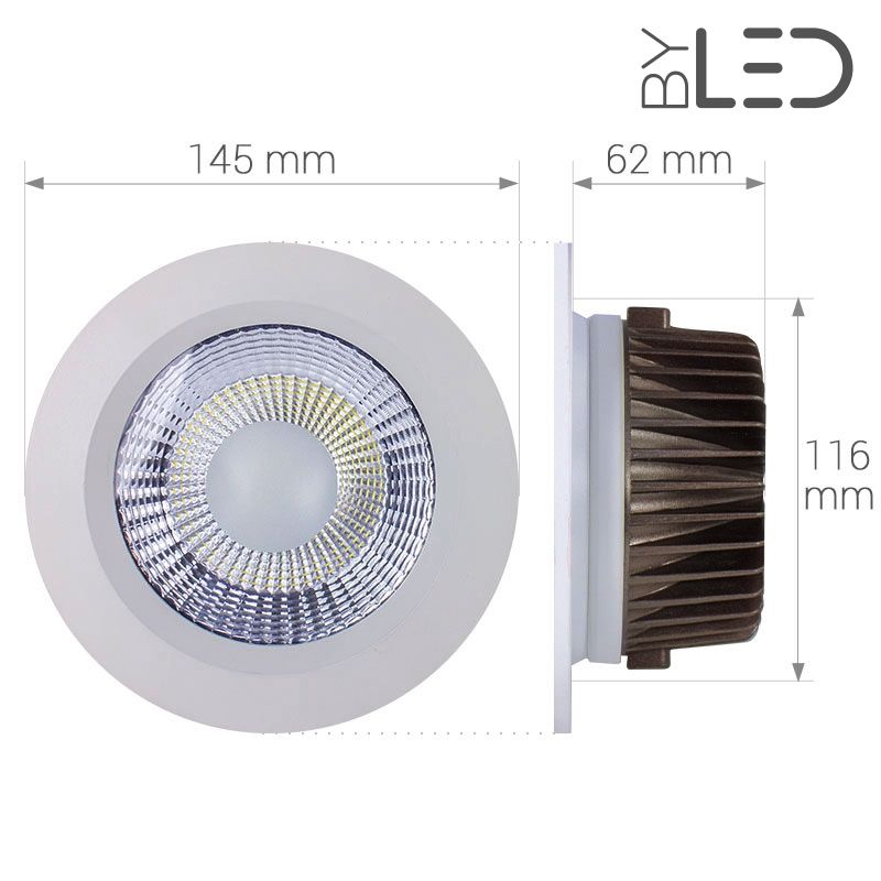spot led chip on board spots encastrables fixes byled. Black Bedroom Furniture Sets. Home Design Ideas