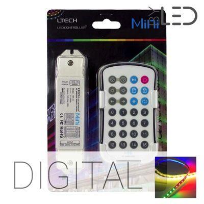 Kit mini télécommande radio pour ruban LED RGB Digital