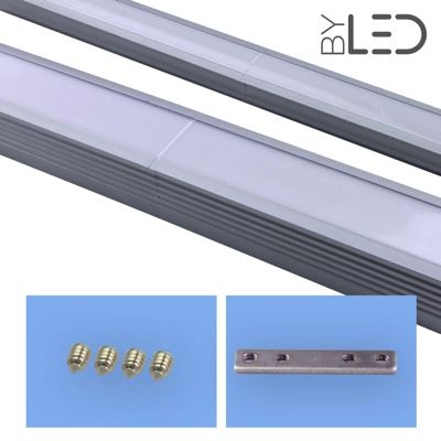 Connexion droite pour profilé LED encastrable