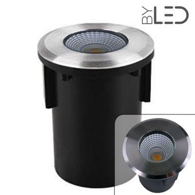 spot led encastr de sol balise inox 3w 12v qinox 92. Black Bedroom Furniture Sets. Home Design Ideas