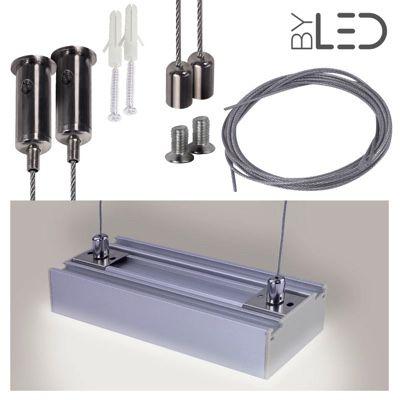 Kit suspension pour profilé LED plat C12