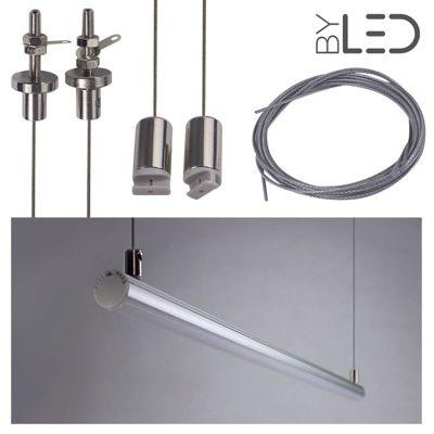 Kit suspension pour profilé LED tube - T01