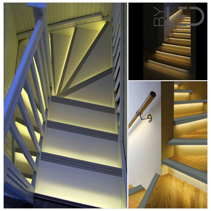profil nez de marche d 39 escalier en aluminium pour ruban led byled byled. Black Bedroom Furniture Sets. Home Design Ideas