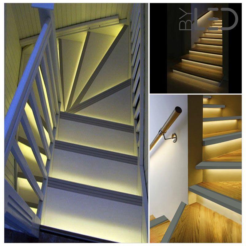 profil nez de marche d 39 escalier en aluminium noir pour ruban led. Black Bedroom Furniture Sets. Home Design Ideas