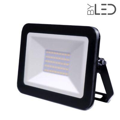 Shape – Projecteur LED ultra plat 30W Noir - 230V - extérieur/intérieur