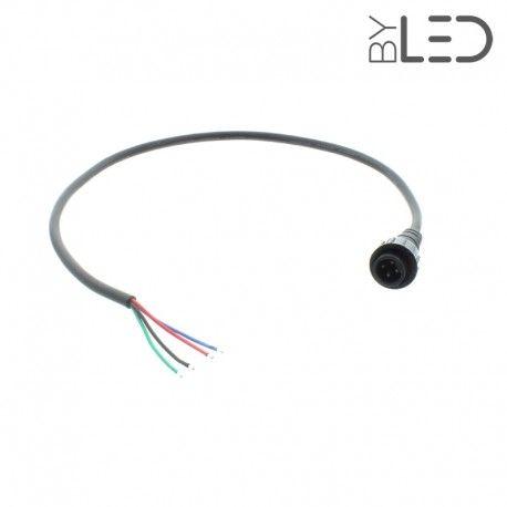 Câble de départ étanche IP67 pour spot RGB
