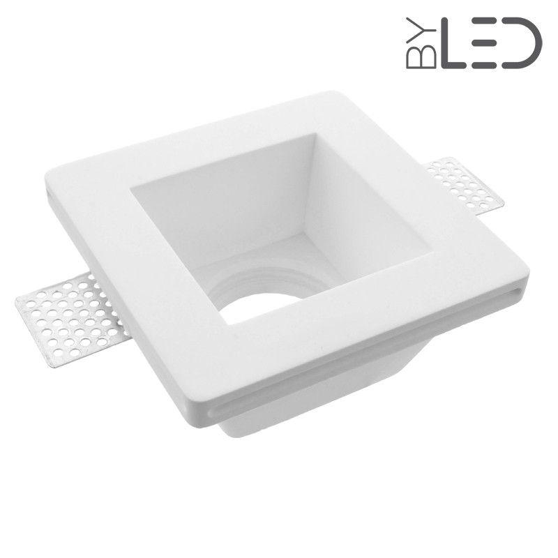 encastr de plafond en pl tre carr pour source gu10 et 5 3. Black Bedroom Furniture Sets. Home Design Ideas