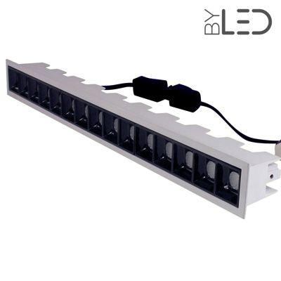 Spot LED encastrable linéaire Noir 30W - Linea