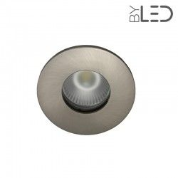 Spot encastrable collerette ronde flat SPLIT - Nickel satiné