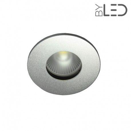 Spot encastrable collerette ronde flat SPLIT - Alu mat