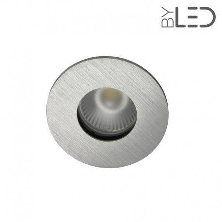 Spot encastrable collerette ronde flat SPLIT - Alu brossé