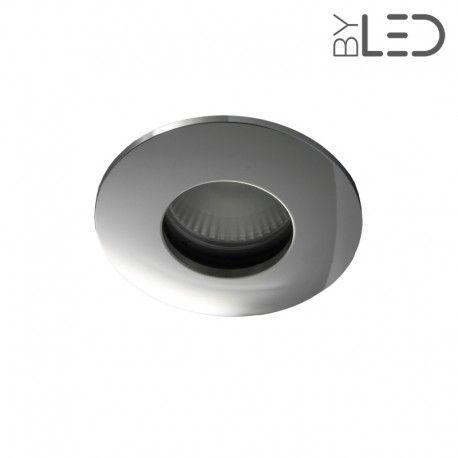 Spot encastrable collerette ronde convex SPLIT - Chrome