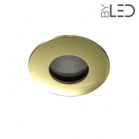 Spot encastrable collerette ronde convex SPLIT - Or brillant