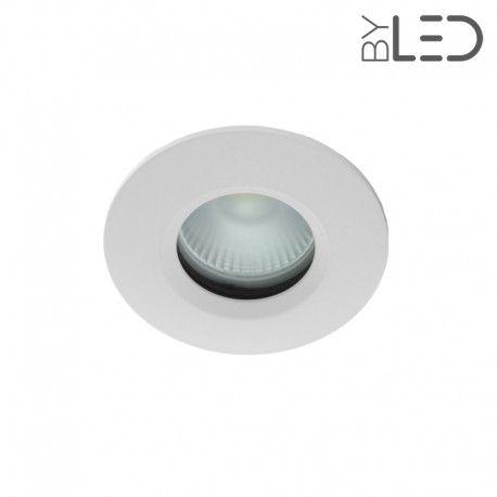 Spot encastrable collerette ronde chanfrein SPLIT - Blanc mat