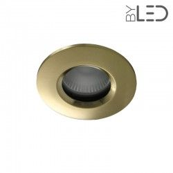 Spot encastrable collerette ronde chanfrein SPLIT - Or satiné