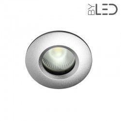 Spot encastrable collerette ronde chanfrein SPLIT - Alu mat