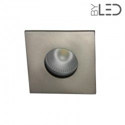 Spot encastrable collerette carrée flat SPLIT - Nickel satiné