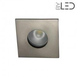 Spot encastrable collerette carrée flat SPLIT - Nickel satiné