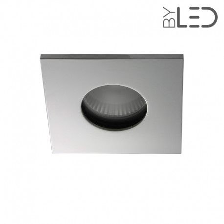 Spot encastrable collerette carrée flat SPLIT - Chrome