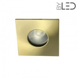 Spot encastrable collerette carrée flat SPLIT - Or satiné