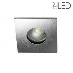 Spot encastrable collerette carrée flat SPLIT - Alu mat