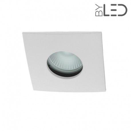 Spot encastrable collerette carrée convex SPLIT - Blanc mat