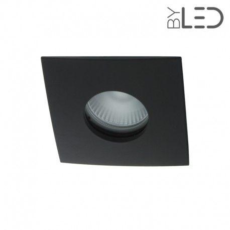 Spot encastrable collerette carrée convex SPLIT - Noir