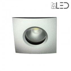 Spot encastrable collerette carrée chanfrein SPLIT - Alu mat