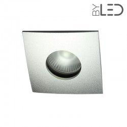 Spot encastrable collerette carrée convex SPLIT - Alu mat