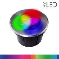Spot LED encastré de sol inox 24V 6W - Terra 6 - RGB