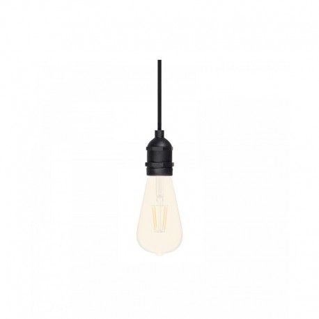 Suspension noire plafond pour Ampoule E27 LED - 1m