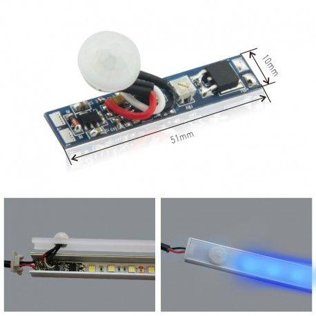 Détecteur de mouvement pour profilé ruban LED