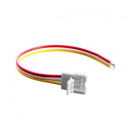 Connecteur ruban LED RGB+W 12 mm câble 13 cm + click