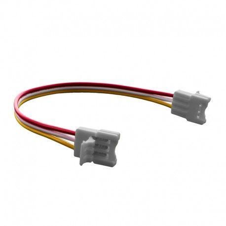 Connecteur ruban LED WW/CW 10 mm Click + câble 15 cm + click