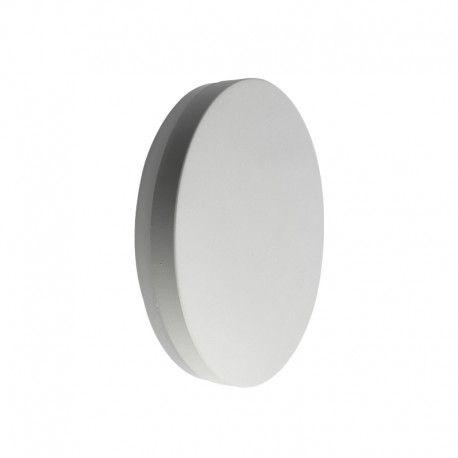 Applique murale ronde - Blanc - IP54 - 10W - PURES-R