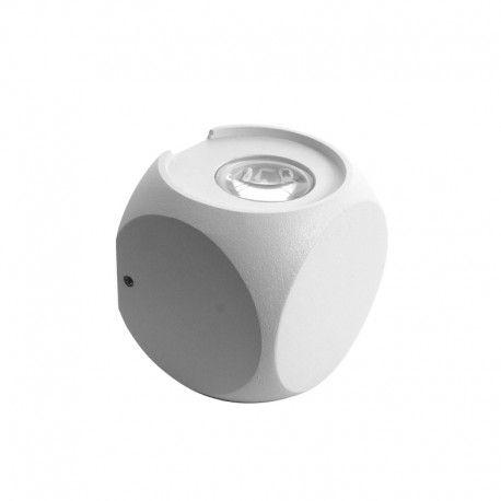 Applique LED murale cube double direction 4W - Kubbe