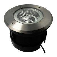 Spot LED encastré de sol rond inox 15W - 230V - QINOX 180mm