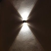 Applique LED murale Up and Down 2x3W - Anthracite - Penta