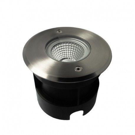 Spot LED encastré de sol rond inox 5W - 230V - QINOX 120 mm