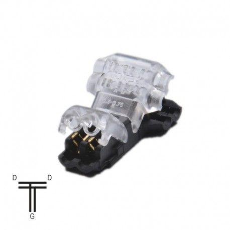 Jonction ruban LED Mono 10 mm Click en T