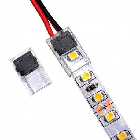 Connecteur slim ruban LED Mono 10 mm pour cable à sertir