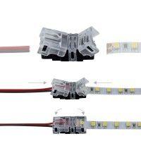 Connexion rapide ruban LED IP20 - Câble 8mm - 2 pôles