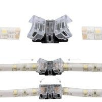 Jonction rapide ruban LED IP65 8mm - 2 pôles